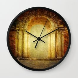 Vintage traditional old fort main gate design Wall Clock
