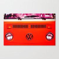 volkswagon Canvas Prints featuring  Volkswagon Bug Van by Lavender~Ramonde
