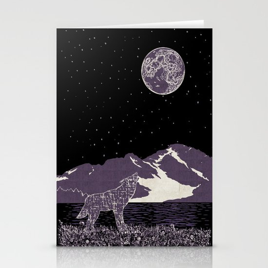 Wolf 1 Stationery Cards