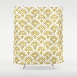 Fan Pattern Gold 201 Shower Curtain