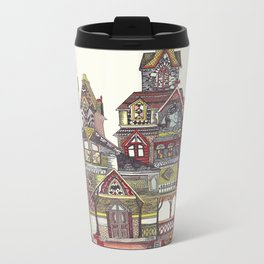 Haunted House Metal Travel Mug