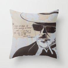 Hunter S. Thompson Throw Pillow