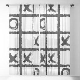 White xox Sheer Curtain