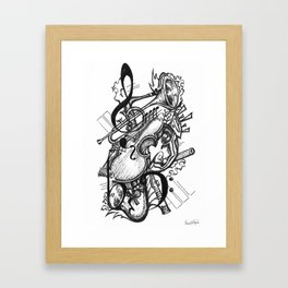 Musical Interpretation Framed Art Print