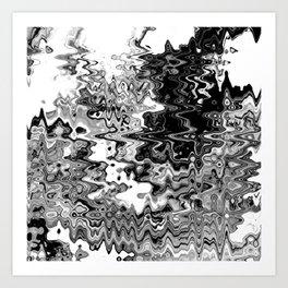 Crazy Wavy Art Print