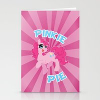 mlp Stationery Cards featuring MLP FiM: Pinkie Pie by Yiji