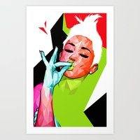 "miley Art Prints featuring ""MILEY"" by DE'TALE"