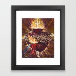 Cor Jesu Sacratissimum VIII (Sacred Heart of Jesus) Framed Art Print
