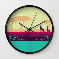 safari Wall Clocks featuring Safari by Kakel