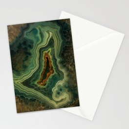 The world of gems - green agate Stationery Cards