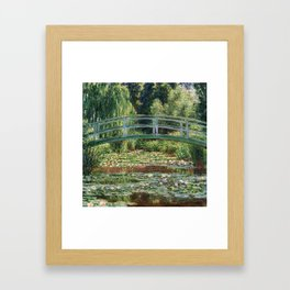 The Japanese Footbridge and the Water Lily Pool by Monet Framed Art Print