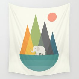 Walk In Peace Wall Tapestry