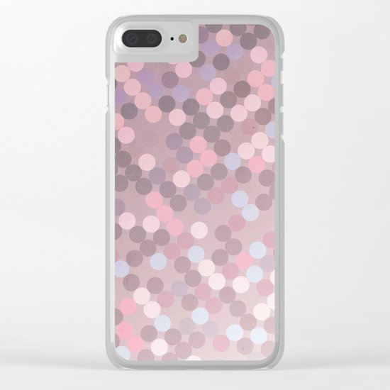 Polka Dots Geometry Clear iPhone Case