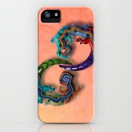 Techno Geckos iPhone Case