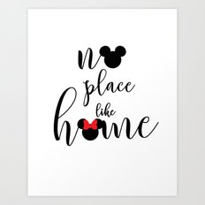 no place like home Art Print