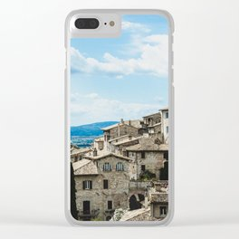 Stone houses Clear iPhone Case