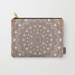 EARTH COLORS MANDALA Carry-All Pouch