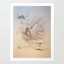Carrier Pigeons Art Print