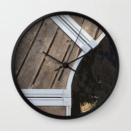 Curvy Dock, Sebec Lake Wall Clock