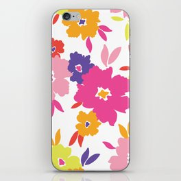Large Colorful Florals iPhone Skin
