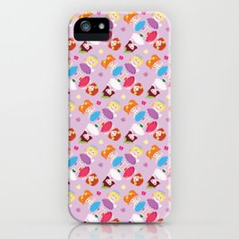 Polly Pocket Pattern iPhone Case