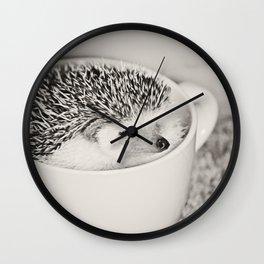 Disgruntled Hedgie Wall Clock