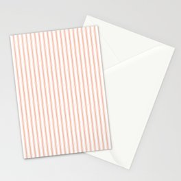Small Shell Coral Peach Orange Mattress Ticking Stripes Stationery Cards