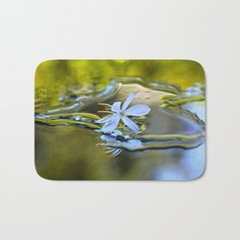 Innocence Tiny Flower of Spider plant Bath Mat