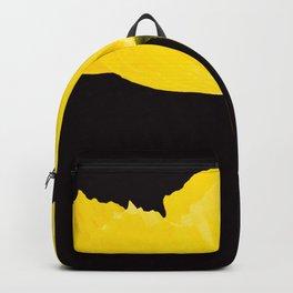 Yellow Poppy Black Background #decor #society6 #buyart Backpack