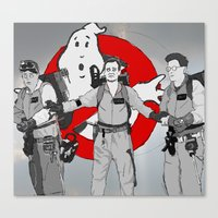 ghostbusters Canvas Prints featuring ghostbusters by wolfvanhaeren