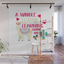 A Whole Llama Learning Going On Wall Mural