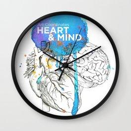Art Coordinates Heart and Mind Wall Clock