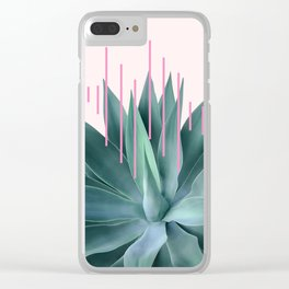 Agave geometrics II - pink Clear iPhone Case