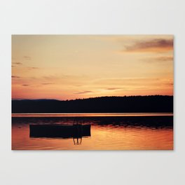 Dock at Dawn Canvas Print