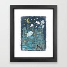 LULLABY TOWN Framed Art Print