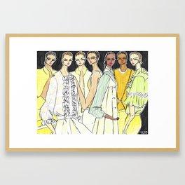 Fashion By the Sea – Original Fashion art, Fashion Illustration, Fashion wall art Framed Art Print