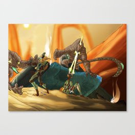 Crossfire Canvas Print