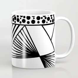 Modern abstract black white geometric stripes polka dots Coffee Mug