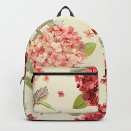 Fall Hydrangeas, Floral Print Backpack