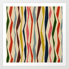 Bloomsbury Stripe Art Print