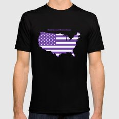 Make America Purple Again United States Map Black LARGE Mens Fitted Tee