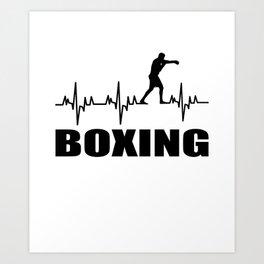 Boxer,martial art, sport Art Print