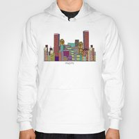 miami Hoodies featuring Miami by bri.buckley