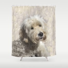 Dog Goldendoodle Golden Doodle Shower Curtain