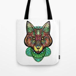 Psychedelic fox Tote Bag