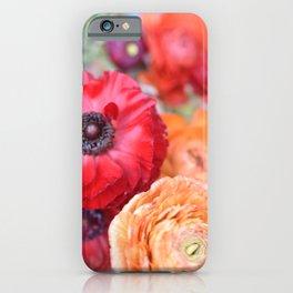 Rosey Ranunculus iPhone Case