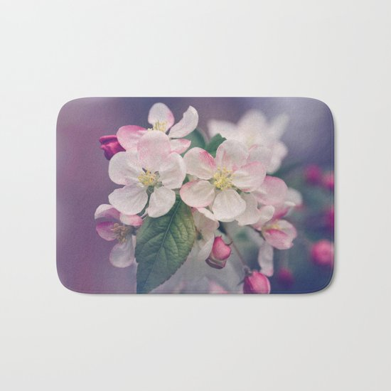 Young Cherry Blossom Flowers Bath Mat