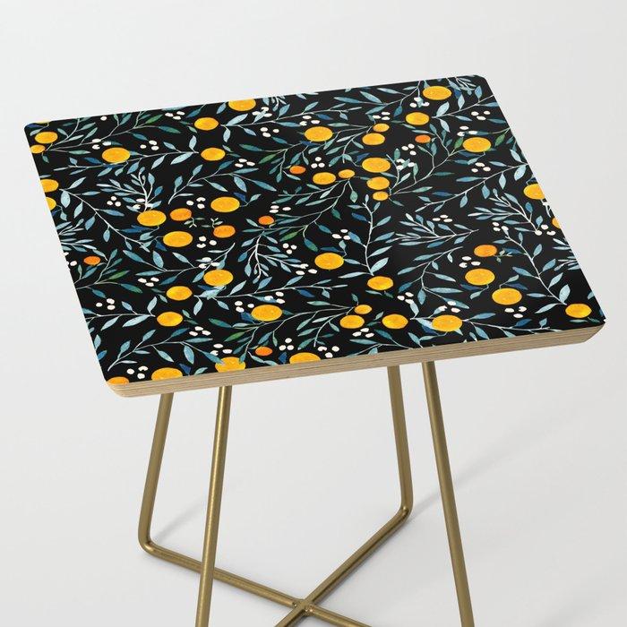 Oranges Black Side Table