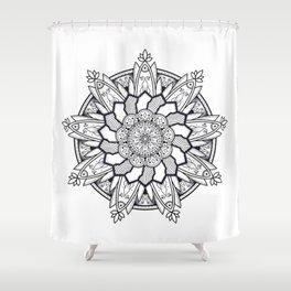 Mandala handmade Drawing, Decoration, Mandala Art, Zen Art Shower Curtain