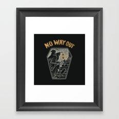 No Way Out Framed Art Print